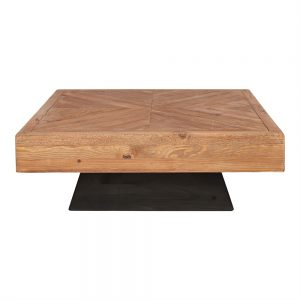 mesa centro cuadrada diseño madera pata negra