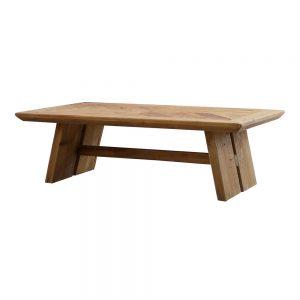 mesa centro rectangular en madera maciza