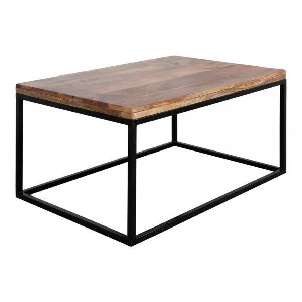 mesa centro industrial tapa madera maciza