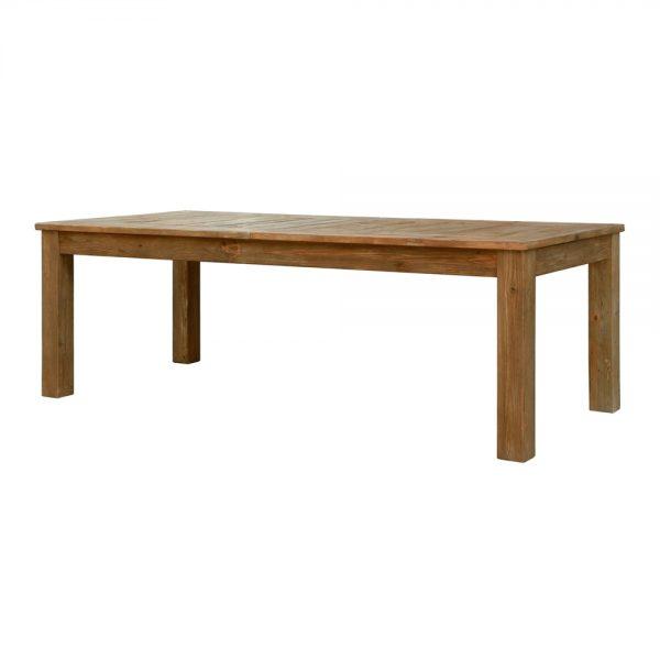 mesa rectangular en madera barnizada