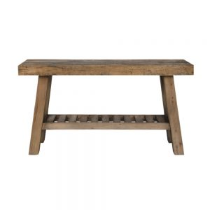 mesa auxiliar rectangular madera envejecida
