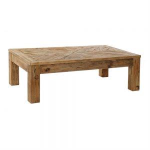 mesa centro rectangular en madera cuatro patas