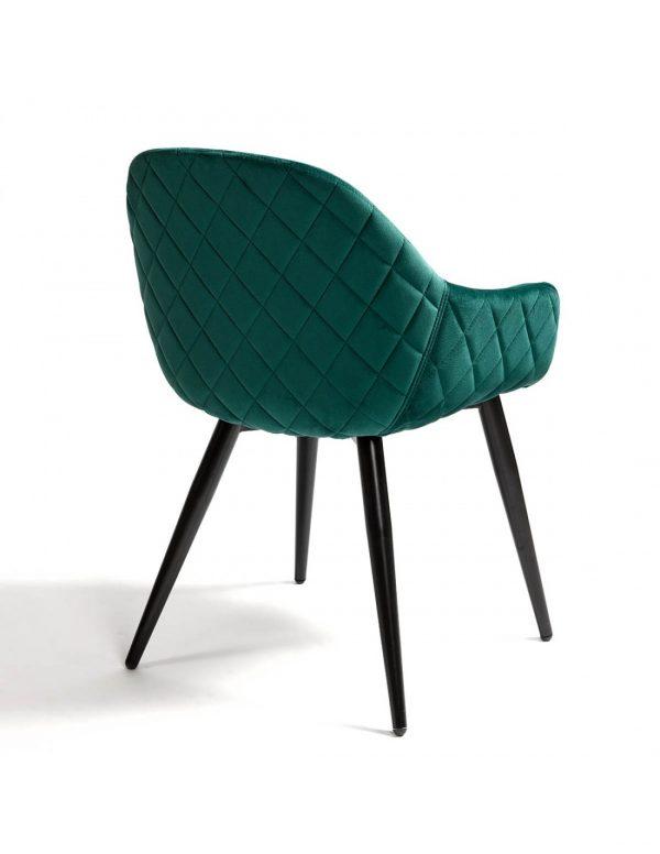 sillon tapizado verde con patas negras