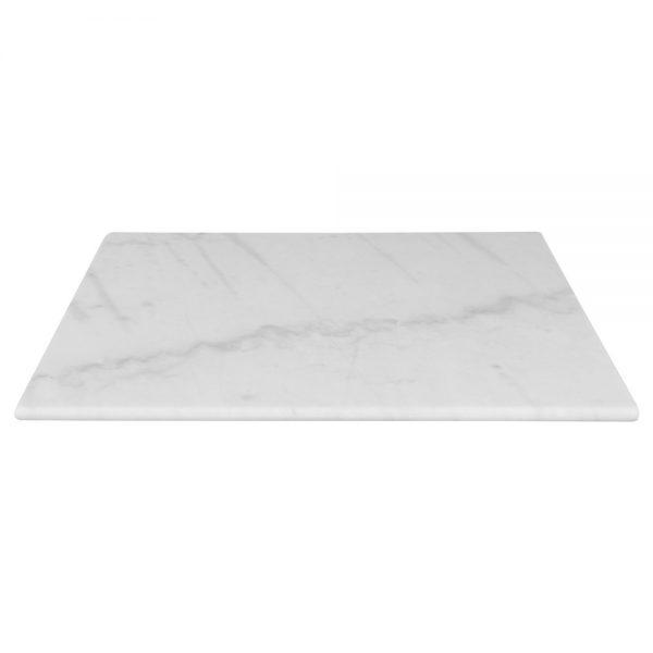 tapa mesa redonda marmol blanco