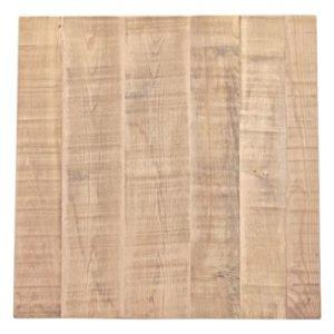 tablero para mesa cuadrado en madera envejecida