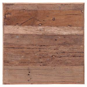 tapa mesa cuadrada en madera vieja