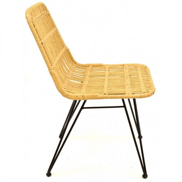 silla asiento fibra patas negras