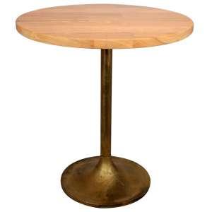 mesa redonda dorada