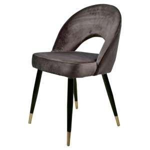 silla comedor terciopelo gris