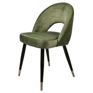 silla contract terciopelo verde dorado