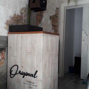 mostrador para tienda de ropa