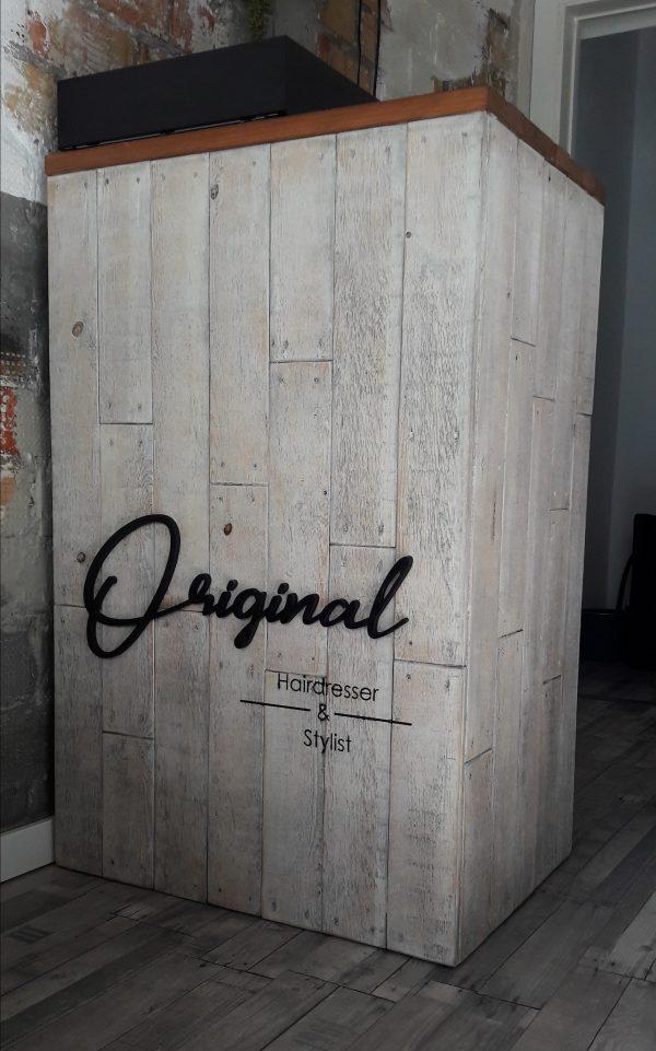 mostrador vintage blanco