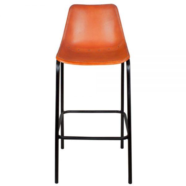 taburete alto industrial asiento piel