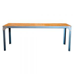 mesa grande de comedor de madera