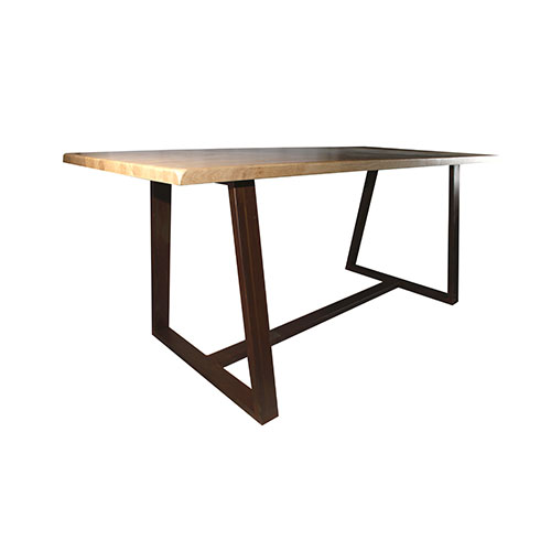 mesa estilo industrial madera y metal