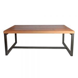 mesa comedor madera y hierro