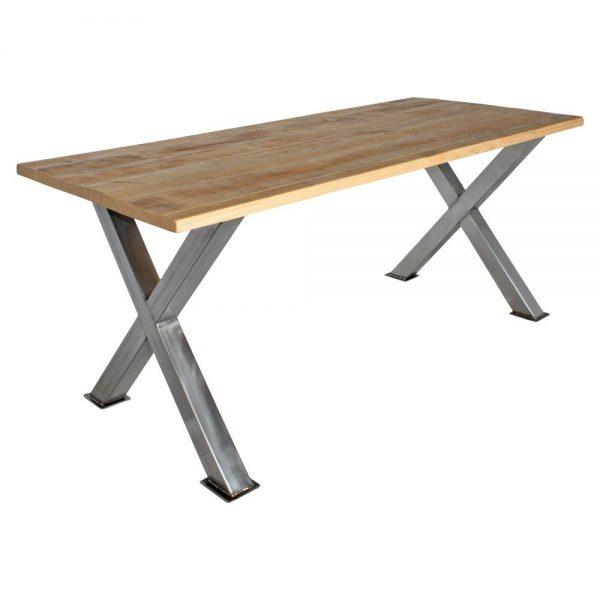 mesa en forma de x