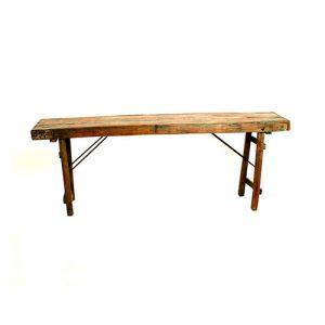 mesa en madera plegable vintage