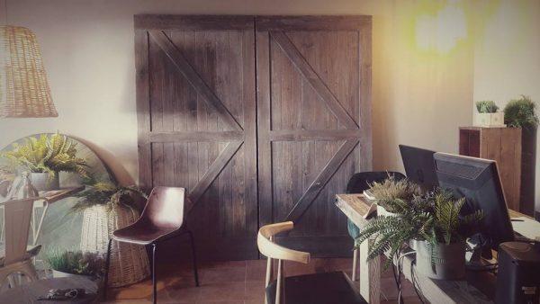 puertas de madera rusticas tipo granero
