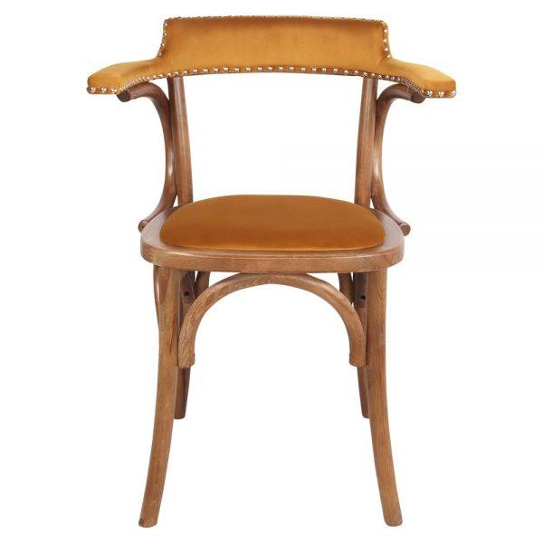 sillas de comedor bistro mostaza terciopelo