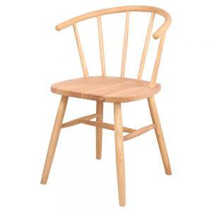 silla estilo nordico madera natural para comedor