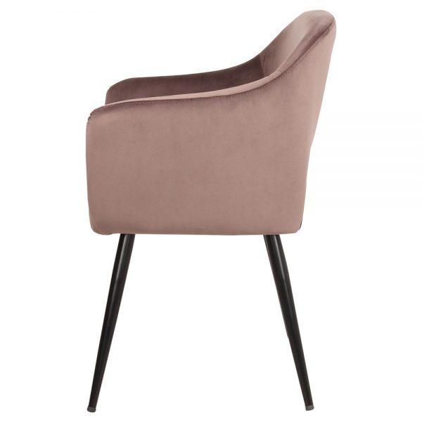 sillas salon tapizadas gris