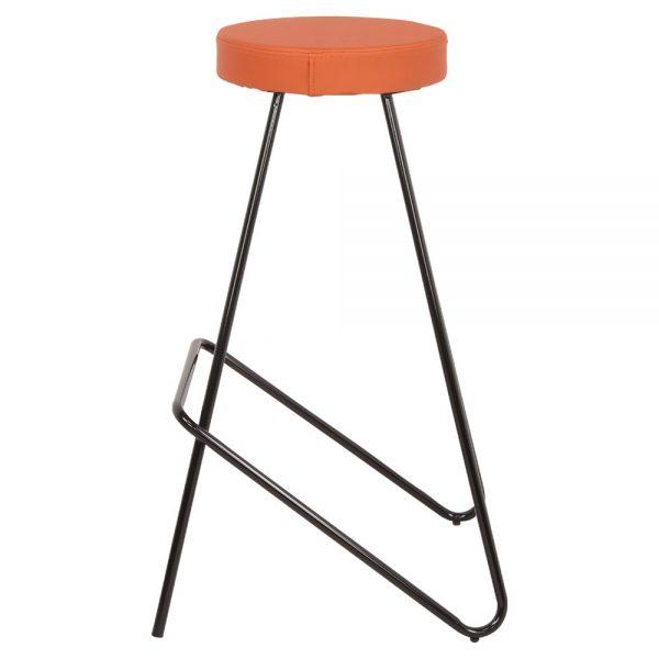 taburete industrial asiento tapizado