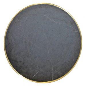 tapa mesa redonda marmol negro