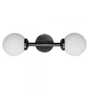 aplique negro con bolas blancas