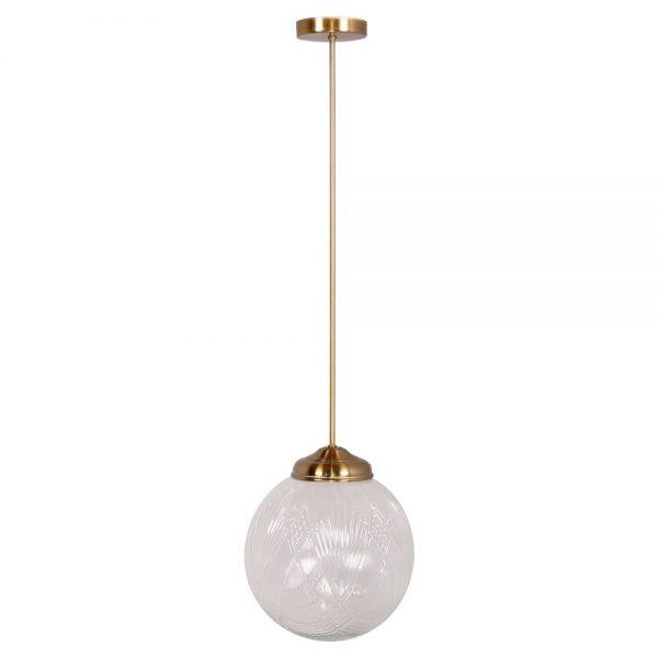 lampara colgante con bola de cristal