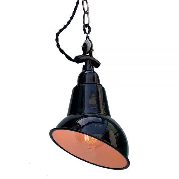 lampara techo con cadena de color negro