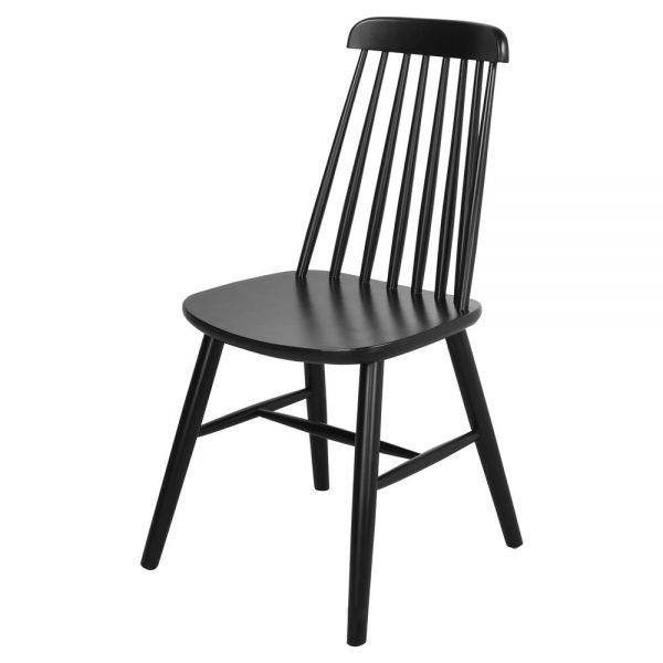 silla madera lacada negro