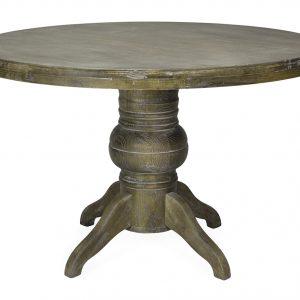 mesa redonda madera con patina