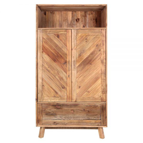 armario de madera maciza con 2 puertas