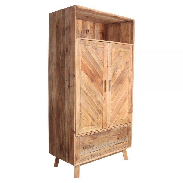 armario de madera con 2 puertas y cajones