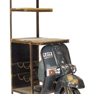 mueble bar estilo industrial tipo moto