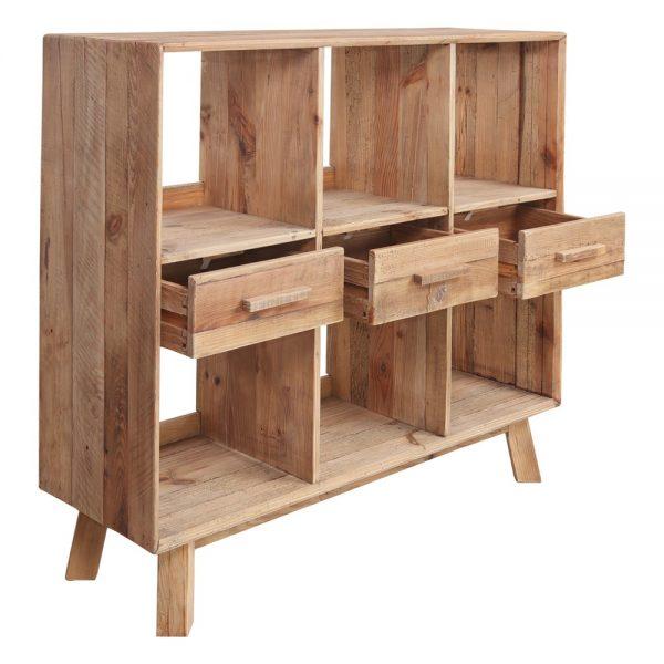 mueble de madera para cubiertos de hosteleria