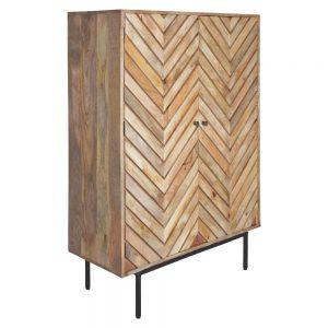 mueble bar madera con puertas de diseño