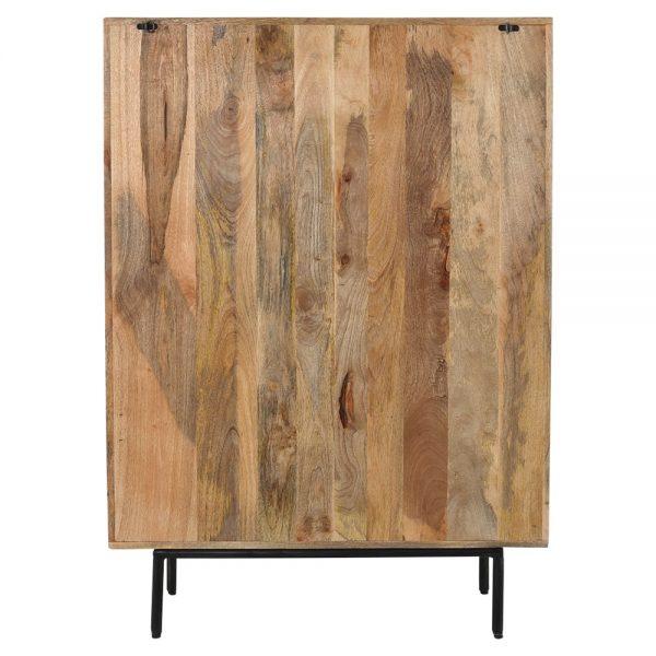mueble bar en madera maciza patas de metal
