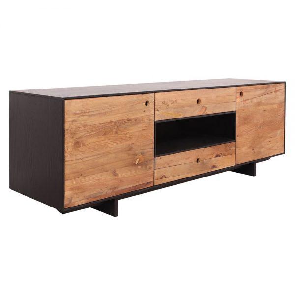 mueble tv de madera con cajones