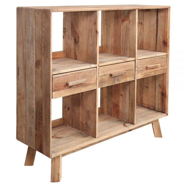 mueble auxiliar para cubiertos de madera