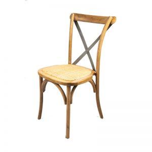 silla comedor madera con respaldo cruz