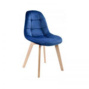 silla terciopelo azul añil