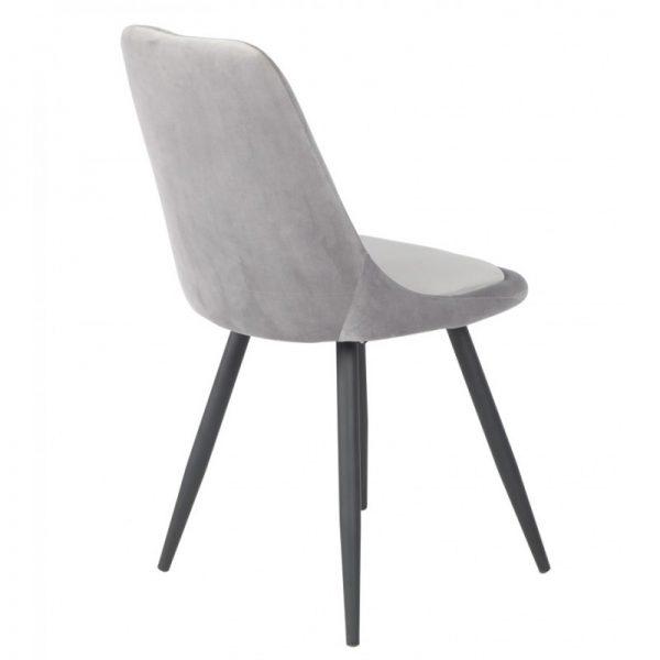 silla comedor gris patas negras