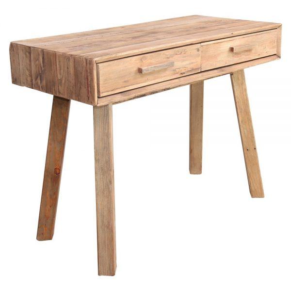 consola pasillo de madera con cajones