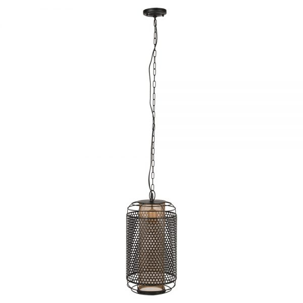 lámpara colgante industrial color negro