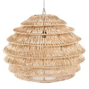 lámpara techo colgante rattan natural
