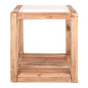 mesa rincón cuadrada madera rústica madera