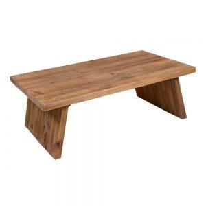 mesa de centro rectangular de madera
