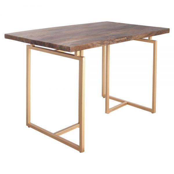 mesa escritorio tapa madera patas metal